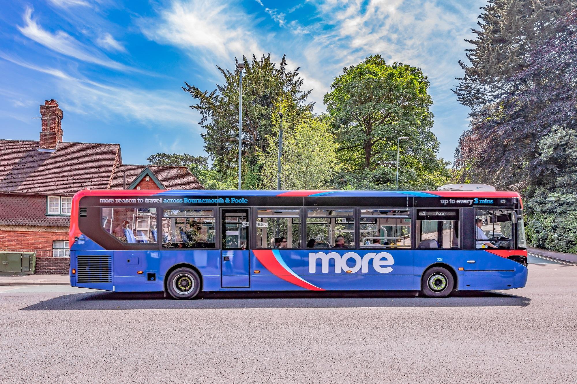 Photo of a morebus en route