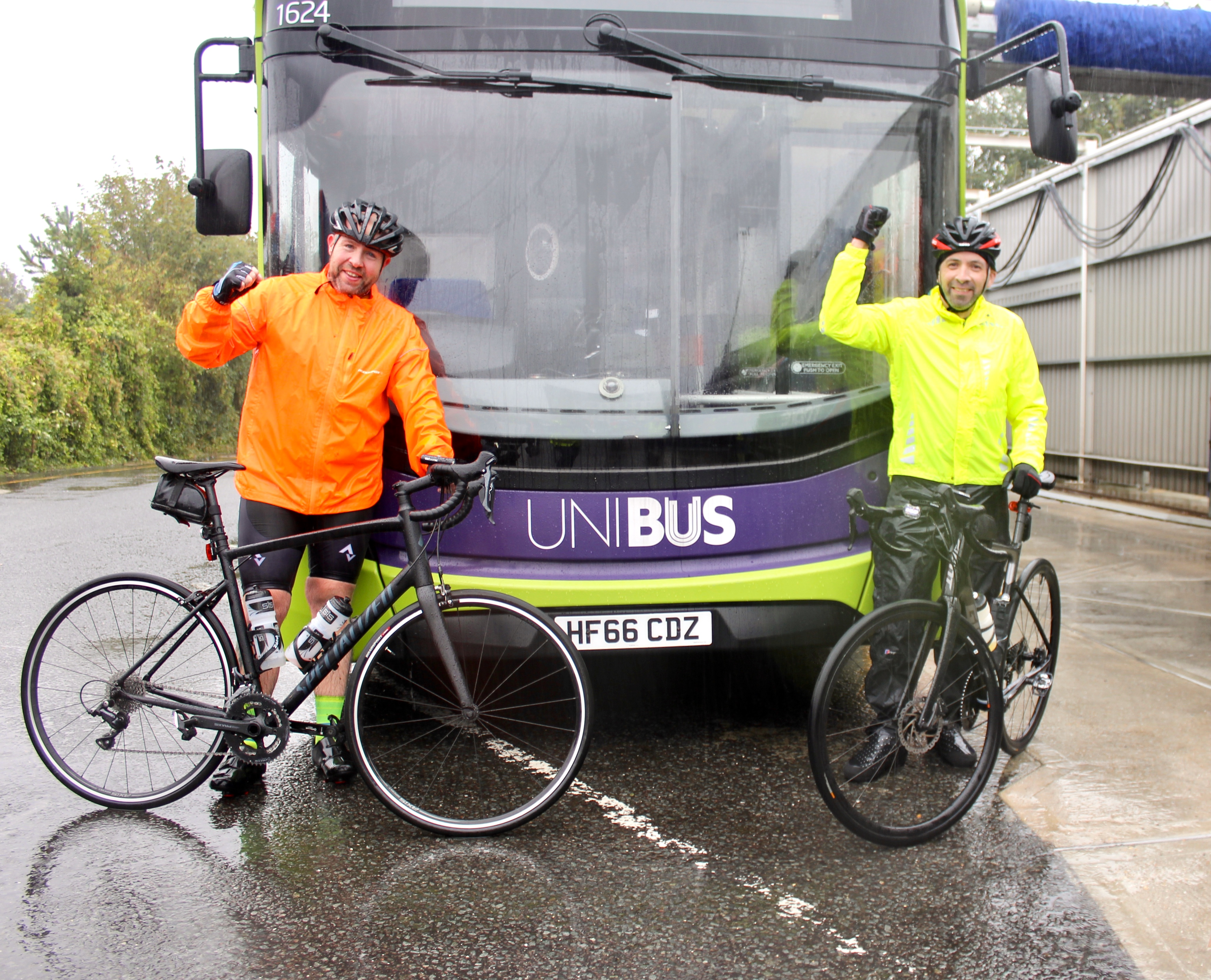 kris and martin charity cycle