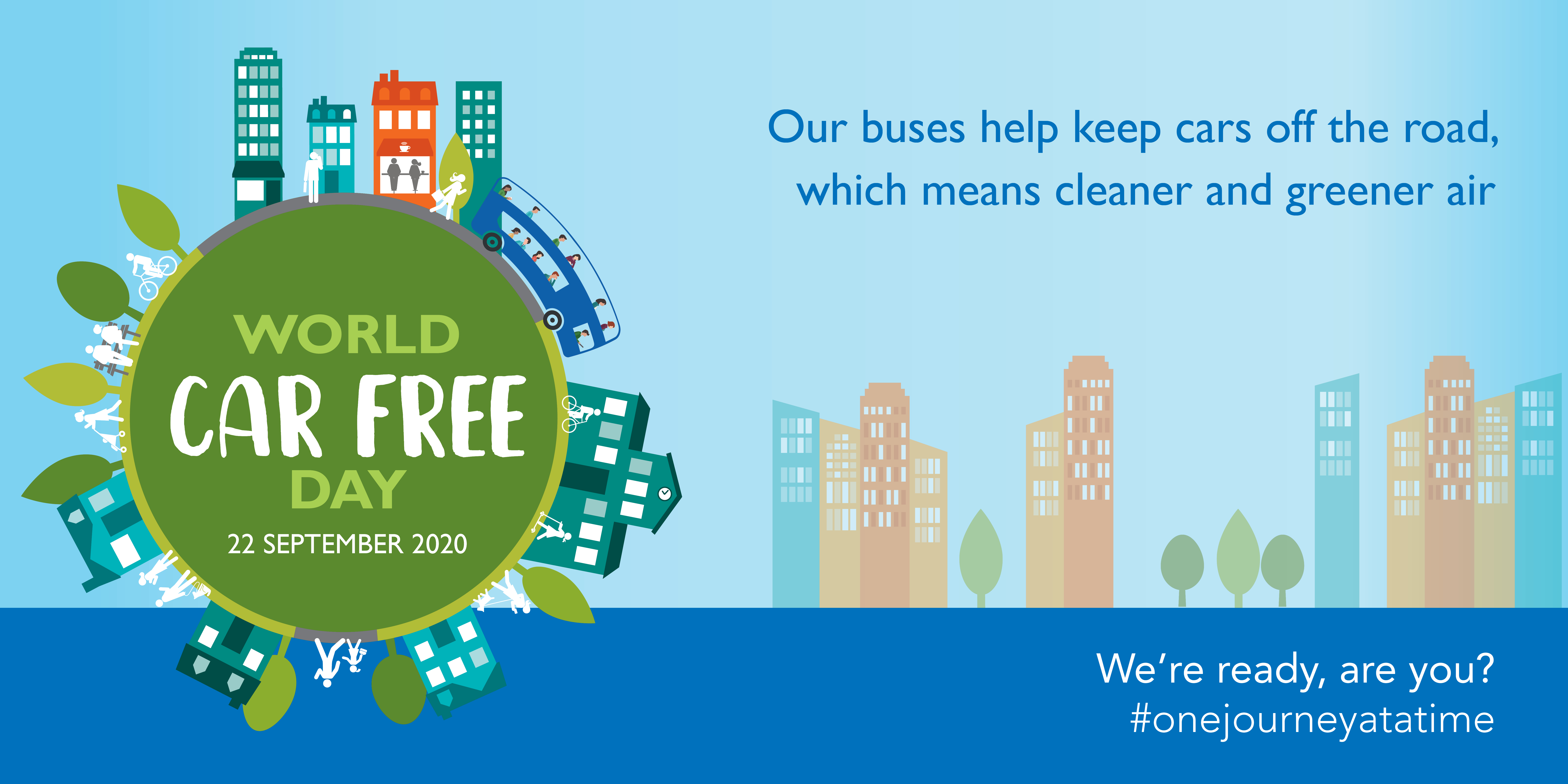 Image with text 'World Car Free Day. 22nd September'