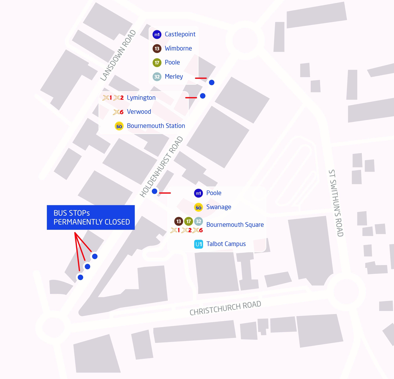 holdenhurst road reopening map