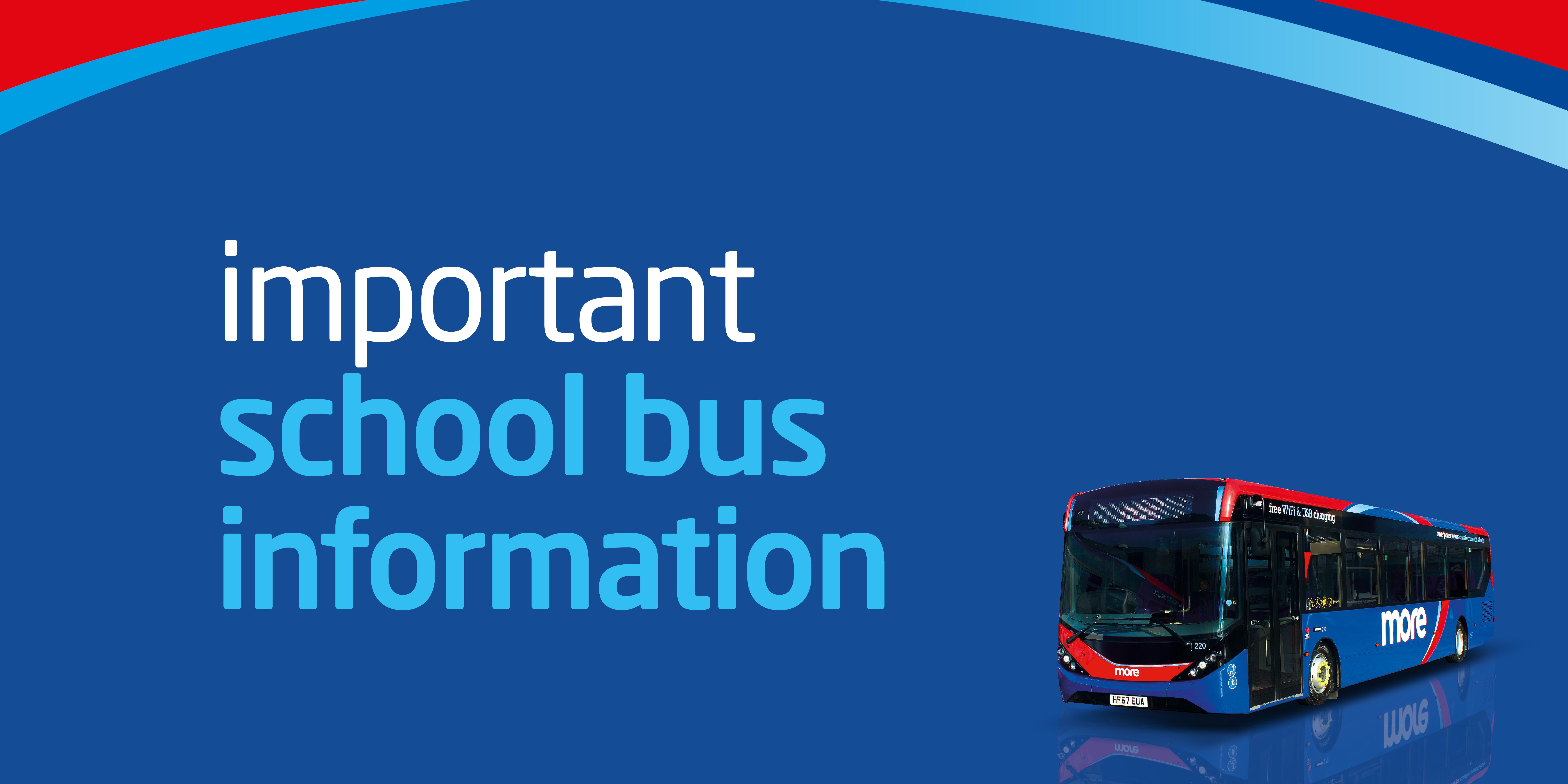 Image reading 'important school bus information'