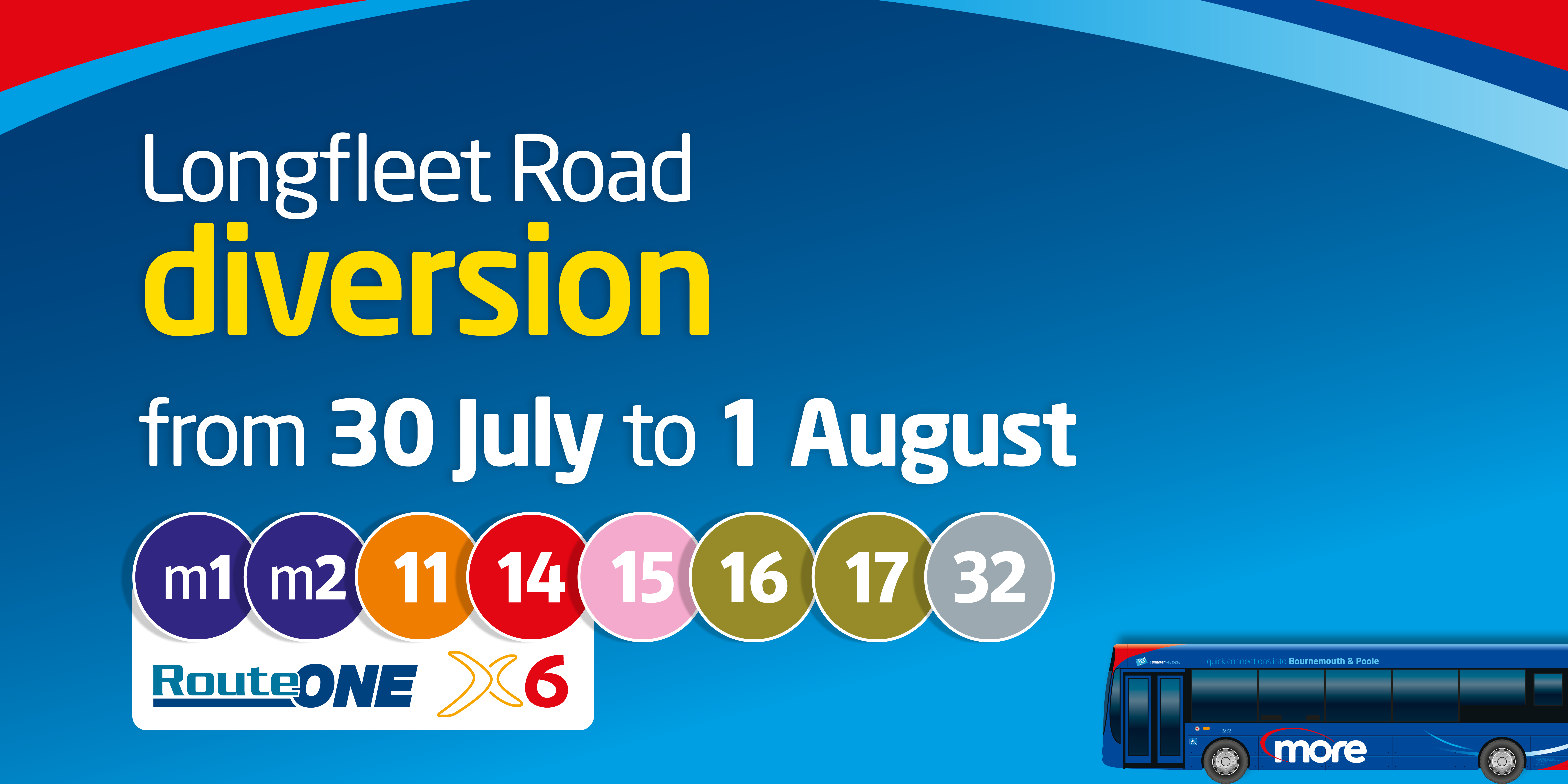 longfleet road diversion from 30th july to 1st august