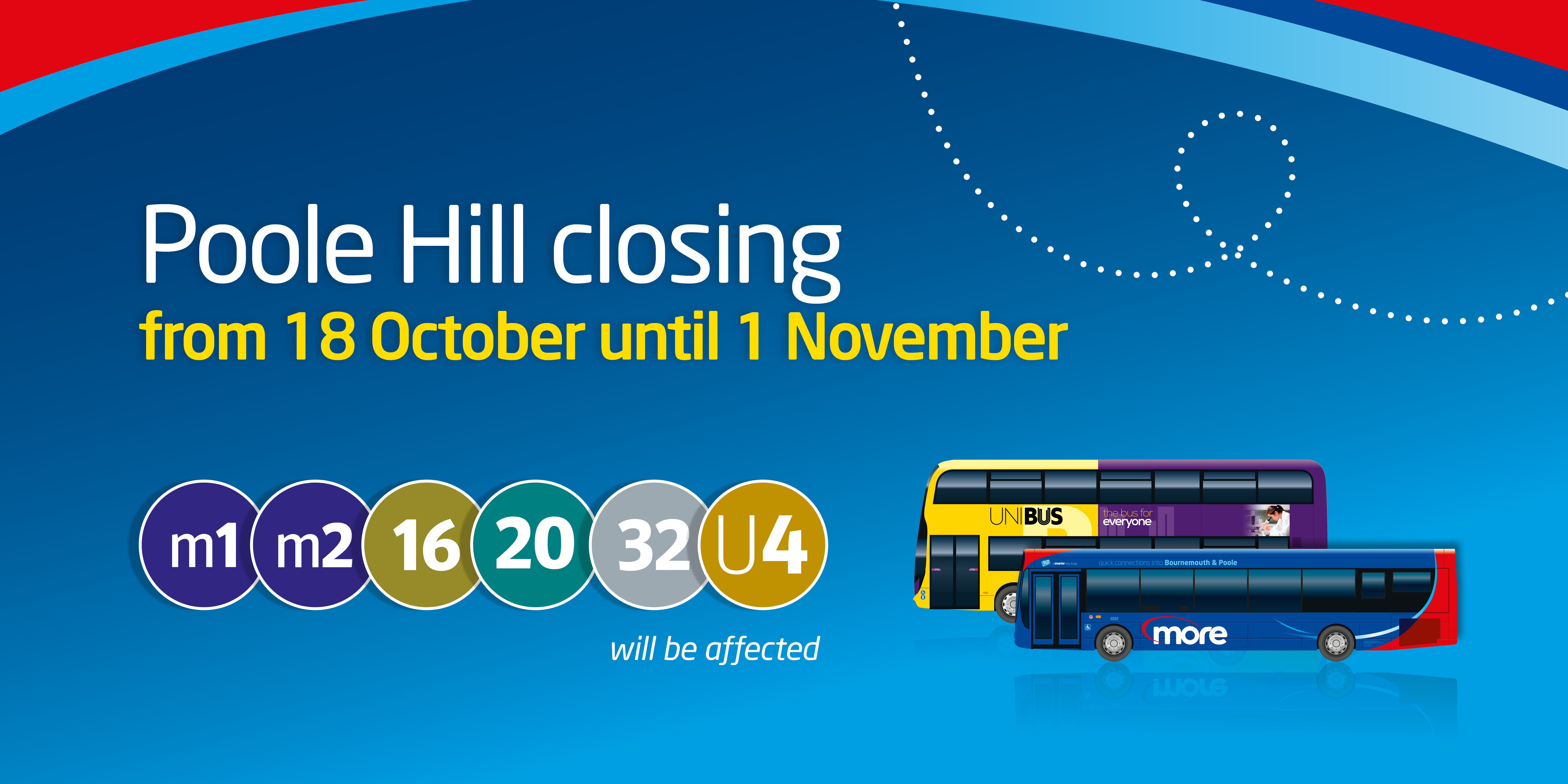 poole hill closure from 18th october until 1st november
