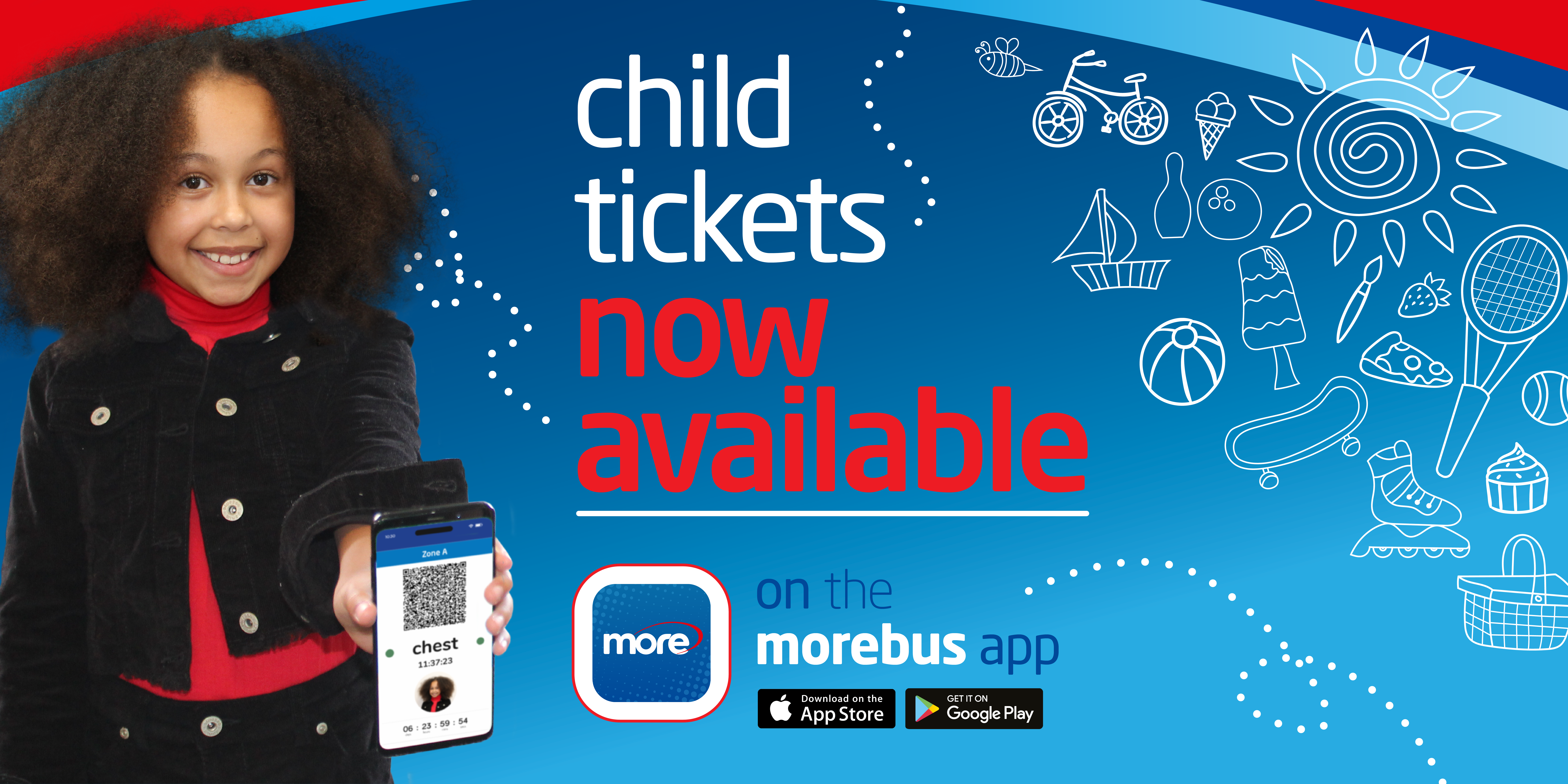 child tickets are now available on the morebus app