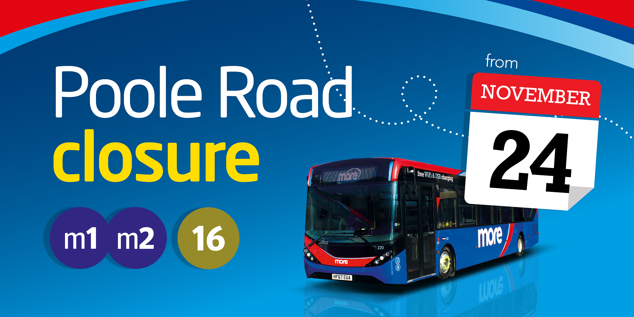 Image reading 'Poole Road closure from November 24th'