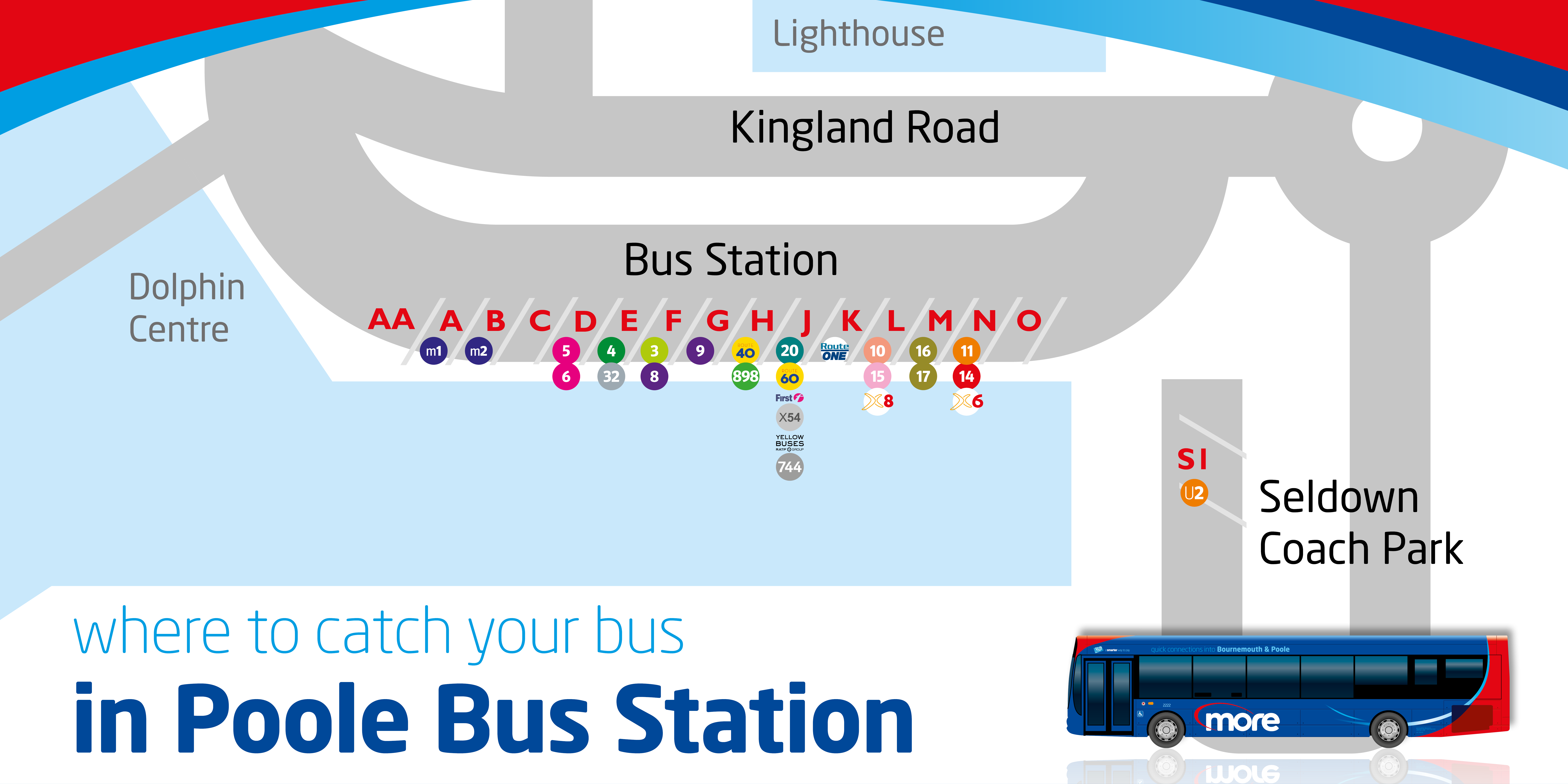 where to catch your bus map
