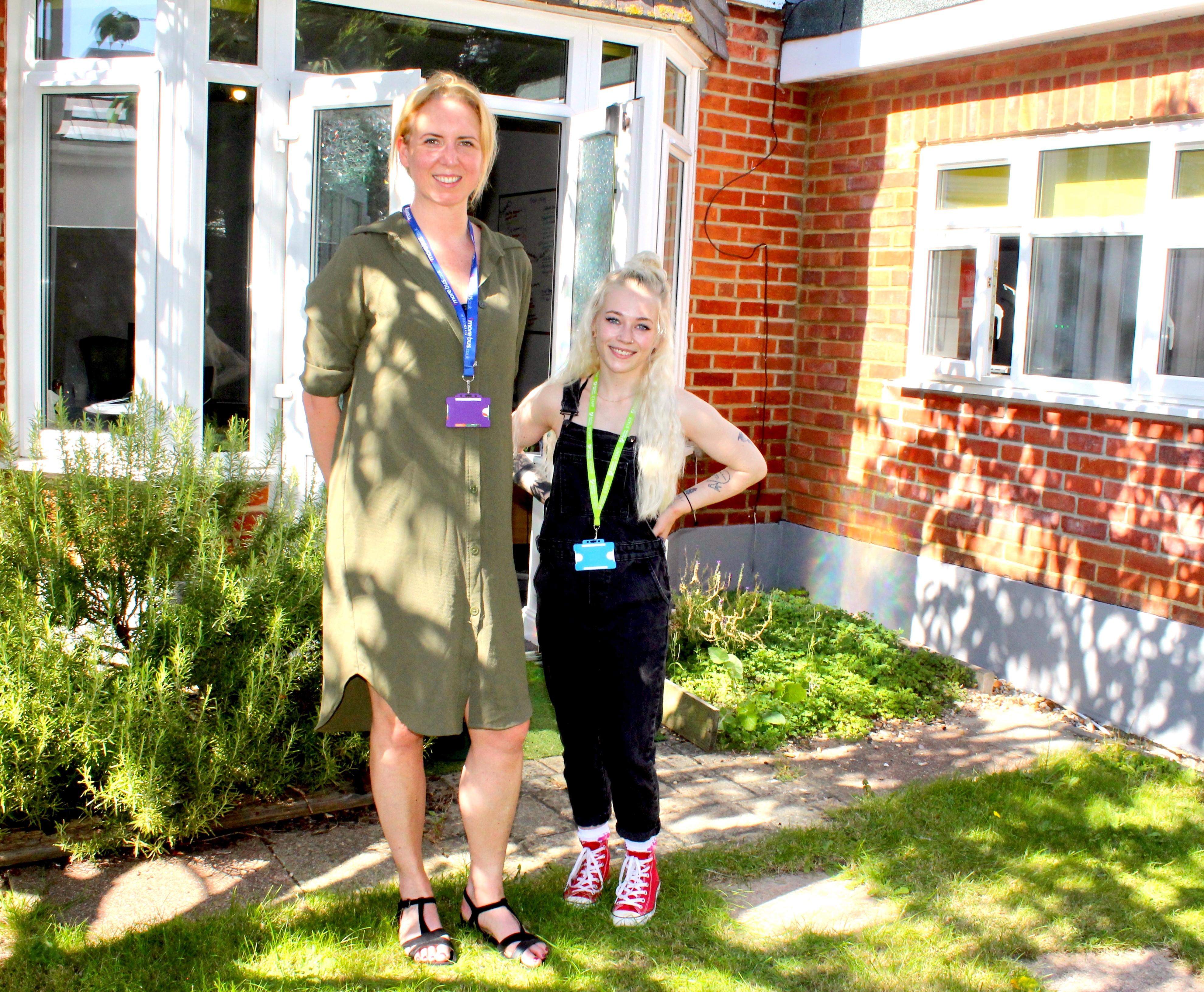 morebus' clair walker and autism wessex's lauren bartlett